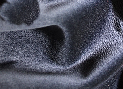 donker blauw velours gordijn 3 x 3 meter hoog